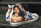 """CONVERSE CHUCK TAYLOR HI """"WONDER WOMAN"""".. RED/ WHITE/ BLUE.. FAST SHIPPING!!"""