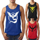 Pokemon Go Team Valor/ Mystic/Instinct Pokeball Fashion Men Vest Tops T-shirt