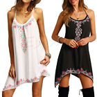 Fashion Women Sexy Dress Summer Sleeveless Boho Beach Short Party Mini Dress HOT