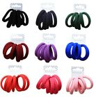 Set of 6 Coloured Soft Jersey Endless Fabric Hair Elastics Bobbles Ponios Bands
