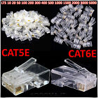 RJ45 Ethernet Cat5e Cat6e Network LAN Cable Lead Crimp Plug End Connector New