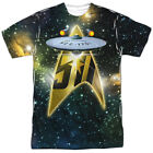 Star Trek Anniversary Ship Allover Sublimation Licensed Adult T Shirt on eBay
