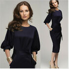 Women Elegant Dress European Charming Lantern Sleeve Graceful Dress New Fashion