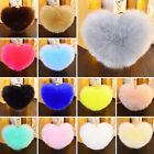 Heart Rex Rabbit Fur Ball PomPom Phone Keychain Pendant Handbag Charm Key Ring