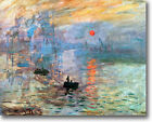 HUGE Monet  Impression Sunrise Stretched Canvas Giclee Art Repro ALL SIZES