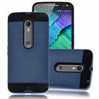 Hybrid Case Cover+Glass Screen Protector For Motorola Moto X Pure Edition /Style