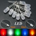 3mm/5mm Round Top Milky Diffused LED Emitter Diodes Red/Green/Blue/Yellow/White