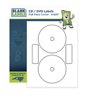 CD / DVD Labels Full Face Fits size 5931 Laser Ink Jet Blank White Sheets Neato