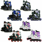 SK8 Zone 2in1 Inline Pro Roller Skates Ice Skating Boots Adjustable Shoes Blades