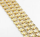 Mens Womens 14 K Yellow Gold Curb 3 MM Cuban Link Chain 16 – 24 ""
