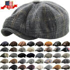 Mens Ivy Hat Golf Driving Ascot Winter Flat Cabbie Newsboy