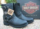 NEW Mens Harley Davidson Abner Black Leather Harness Motorcycle Boots D93351