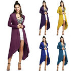 Fashion Lady Women Casual loose front Open Hem Long Cardigan Jacket coat outwear