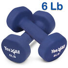 Yes4All Neoprene Coated Dumbbells Hand Weight Sets Non-Slip Grip 2 - 20 lbs Pair