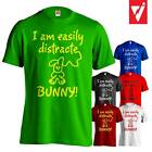 I Am Easily Distracted... Bunny! Funny Mens Male T-Shirt  T Shirt Gift Present
