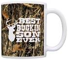 Gift for Son Best Buckin' Son Ever Redneck Gifts Deer Hunting Coffee Mug Tea Cup