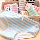 Women Cotton Lovely Bowknot Stripe Navy Bowknot Triangle Panty Underwear