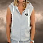 Ladies PLAIN Grey Gym Spartan Sleeveless Hoodie GSC Fitness Dance Hoody Running
