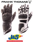 FRANK THOMAS FT1 ALPHA LEATHER MOTORCYCLE GLOVE SPORTS SUMMER MOTORBIKE J&S