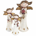 Charming Christmas Angel Resin Decoration Gold Xmas Happy Wings 13/16/22cm