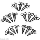 10PCs BD Fashion Alloy Black Hollow Hairpin Jewelry Accessories