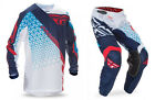 NEW 2017 FLY RACING KINETIC TRIFECTA MESH GEAR COMBO RED/WHITE/BLUE ALL SIZES