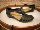 Clarks Black Leather Cutout Maryjane Wendy Tiger Shoe New