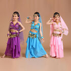 AK001 NEW Girls Kids Belly Dance Costume Indian Bollywood Oriental Carnival Set