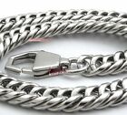 Laser 316L Stainless Steel Clasp 7.5mm Round Side Cuban HAND POLISHED Necklace