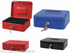 Cash Deposit Box Metal Security Money Bank Coin Tray holder Varius Colour-Size