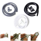 1.5M Cable Wire Tidy Wrap PC Home Cinema TV Management Organising Kit + Clip