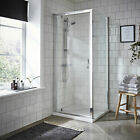 Premier Ella 900mm Pivot Shower Door ERPD90 with Tray & Side Panel Options
