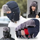 Men Women Winter Warm Hats  Aviator Trooper Earflap Outdoor Snow Ski Cap