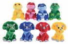 "NEW 9"" SPARKLE EYES DINOSAURS RAPTOR TRICERATOPS PLUSH SOFT TOY"