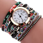 Women's Rhinestone Rivet Multilayer Analog Dress Bracelet Wrist Watch Sanwood