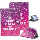 "Keep Calm And Sparkle 7"" Universal Leather Box Case For Acre/Alcatel/ASUS/Amazon"