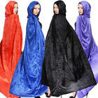 Women Men Adult Wizard Witch Party Costume Cosplay Halloween Cape Cloak hood
