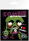 I Love Zombies Badge Pack 10x15cm