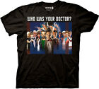 Doctor Who Black T-shirt- Who was Your Doctor? - Official Science-Fiction Series