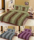 Leopard Skin Design Printed Duvet Quilt Cover With Pillow Cases All Size