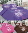 Butterfly Printed Polycotton Duvet/Quilt Cover Set Including Pillow Cases