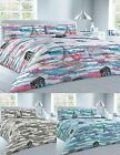 Paris Eiffel Tower Printed Polycotton  Duvet Quilt Cover With Pillow Cases
