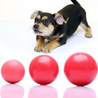 Pet Ball Toy Durable Products For Pet Puppy Dog Red Solid Natural Rubber Ball