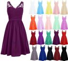 Short Chiffon Bridesmaid Formal Gown Ball Party Evening Prom Dress Size 6-22