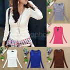 New Fashion Girls Tops T Shirt Casual New Blouse Loose Ladies Long Sleeve Women