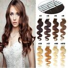Body Wavy Seamless Tape In Skin Weft Brazilian Remy Human Hair Extensions 20Inch