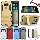 Armor Heavy Duty Tough Case Cover & Free Tempered Glass For Huawei Honor 8/5X