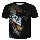 New Fashion Womens/Mens Suicide Squad Joker Funny 3D Print T-Shirt US12