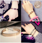 Elegant Simple Fashion Bangle Bracelet Open Cuff New Womens Charm Wristband