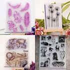Feather & Cat Sheet Transparent Silicone Clear Stamp Cling Seal Scrapbooking DIY